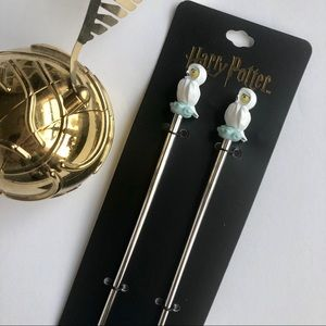 NWT - Harry Potter Hedwig Hair Sticks